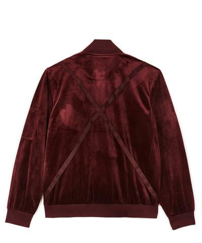 Reason- Centauri Velour Bomber Jacket- Oxblood
