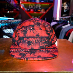 supreme World Famous Taped Seam Camp Cap Red