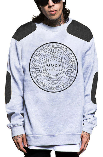 Gods & General- 7- Point Quilted Crewneck