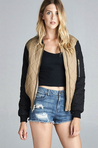Quilted Bomber Padding Jacket