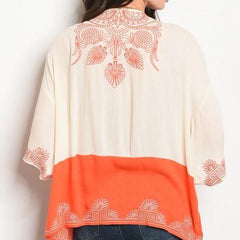 Cream Orange Kimono Atomic 1800