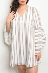 Ivory Taupe Plus Size Dress