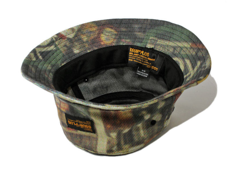SSUR PLUS- BODEGA CAMO BUCKET HAT