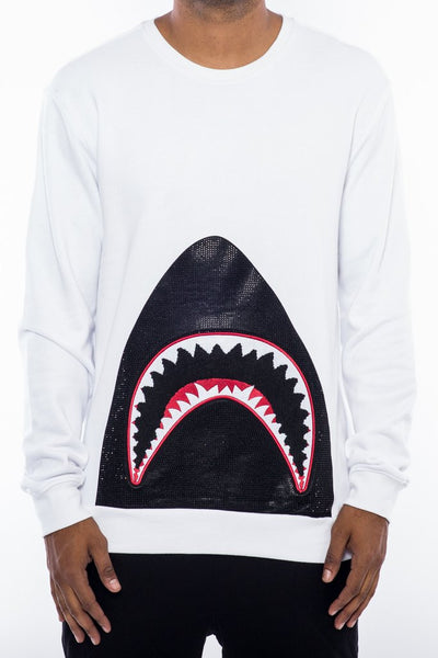 Hudson- Shark Mouth Crew White