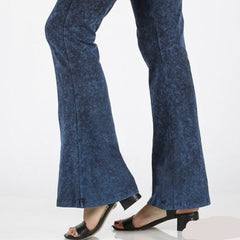 Mineral Washed Bottom Flare Pants