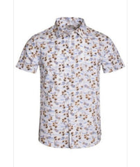 Button Down Printed Shirt  100% Cotton
