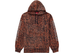 Marble hooded sweatshirt supreme orange
