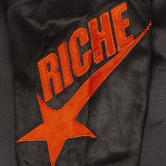 Vie Riche- Mixed Media Track Pant
