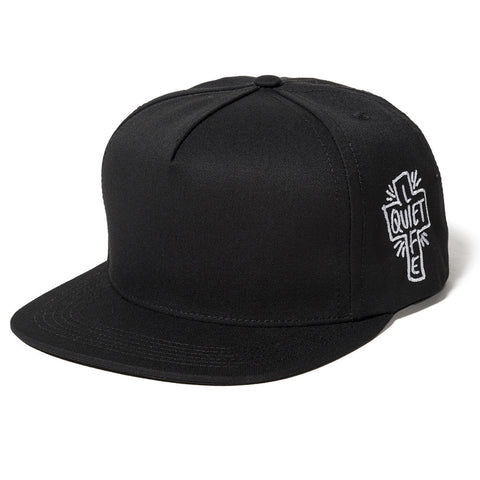 The Quite Life- Sharpie Snapback Hat Black