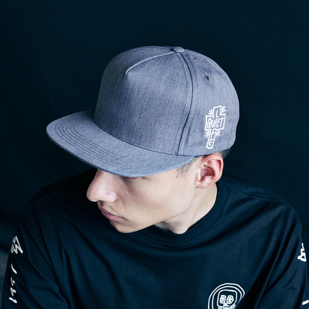 The Quite Life- Sharpie Snapback Hat Heather Grey