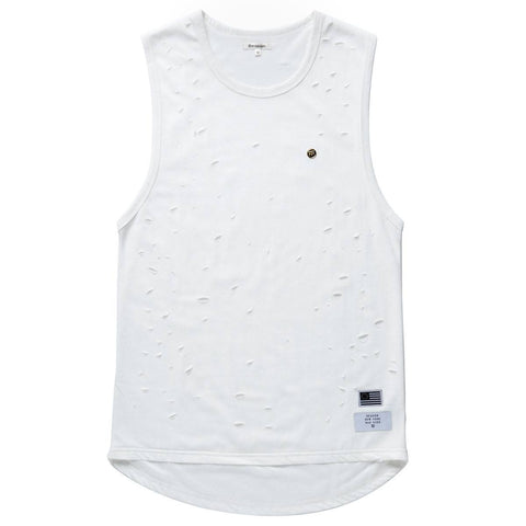 Reason- Destroyed Layered Tank Off White