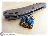 Custom Made Titanium Standoffs, Scale Screws, LBS and Clip for Zero Tolerance ZT0560 & ZT0561