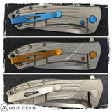 Custom Made Titanium Standoffs, Scale Screws and Clip for Zero Tolerance ZT0801