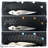 Custom Made Titanium Standoffs, Scale Screws, LBS and Clip for Zero Tolerance ZT0550