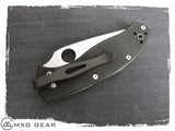 Custom Made Titanium Deep Carry Pocket Clip For Spyderco Tenacious