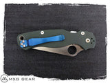 Custom Made Titanium Pocket Clip For Spyderco Knife