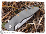 Custom Made Titanium Standoffs, Scale Nuts, Scale Screws, and Clip Hinderer XM-18 3.5""