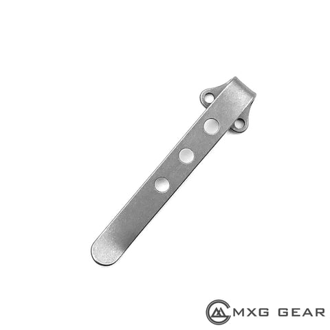 Custom Made Titanium Deep Carry Pocket Clip For Zero Tolerance ZT0801 ZT0801TI