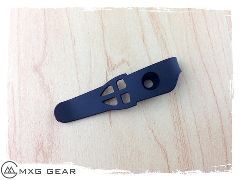 Custom Made Titanium Deep Carry Pocket Clip For Strider Knives