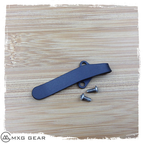 Custom Made Titanium Deep Carry Pocket Clip For Kershaw Leek