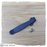 Custom Made Titanium Tip-Down Deep Carry Pocket Clip For Kershaw Knives