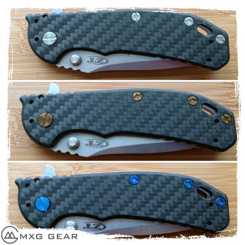Custom Made Titanium Standoffs, LBS, Scale Screws and Clip for Zero Tolerance ZT0566