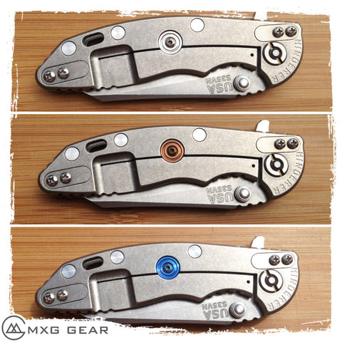 "Custom made Titanium Lock Bar Stabilizer for Rick Hinderer Knives XM-18 3"" & 3.5""XM-18 3"" & 3.5"" (LBS Only)"