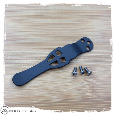 Custom Made Titanium Deep Carry Pocket Clip For Spyderco Knife