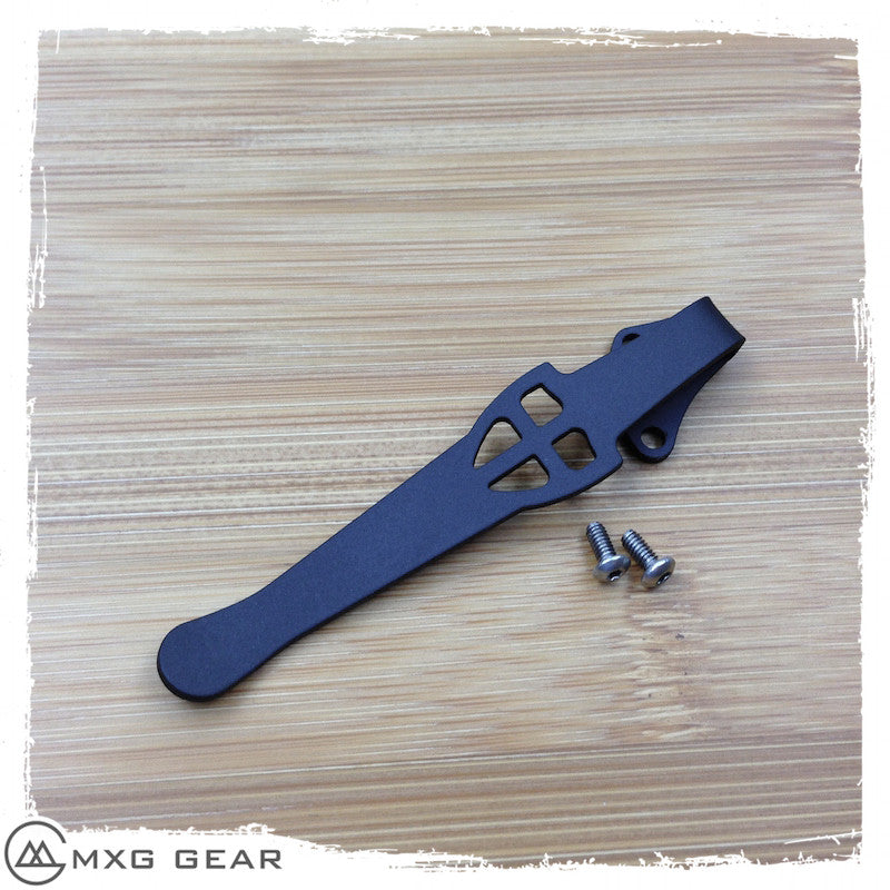 Custom Made Titanium Deep Carry Pocket Clip For Kershaw Knives