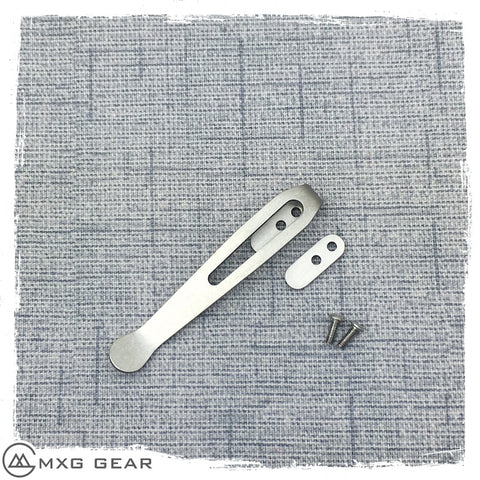 "Custom made titanium clip for Rick Hinderer Knives XM-18 3"" & 3.5"" & Ecklipse"