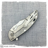 "Custom made titanium clip for Rick Hinderer Knives XM-18 3"" & 3.5"""
