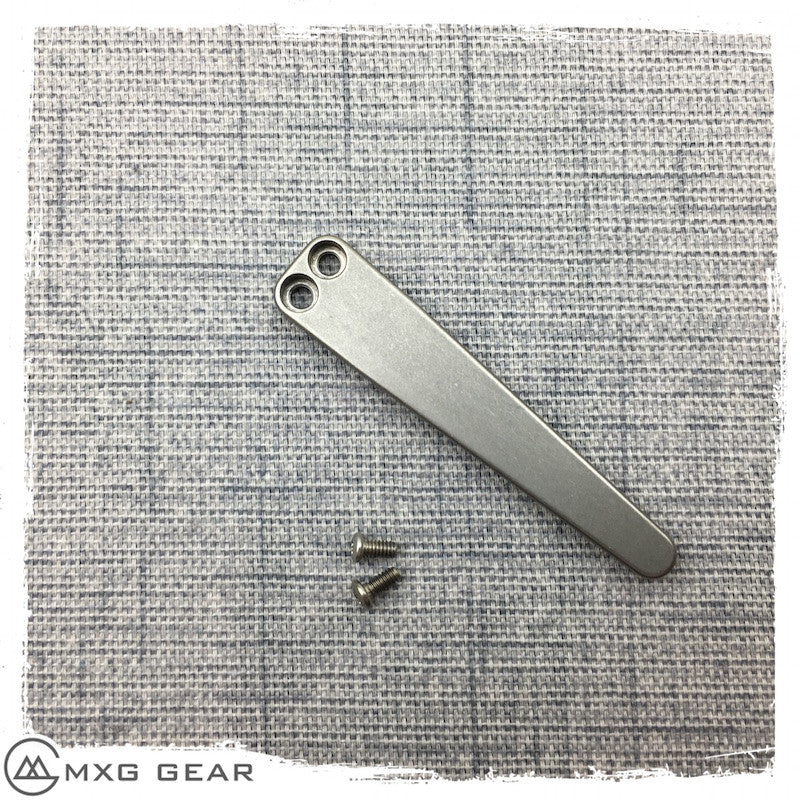 Custom Made Titanium Pocket Clip For Kershaw Skyline