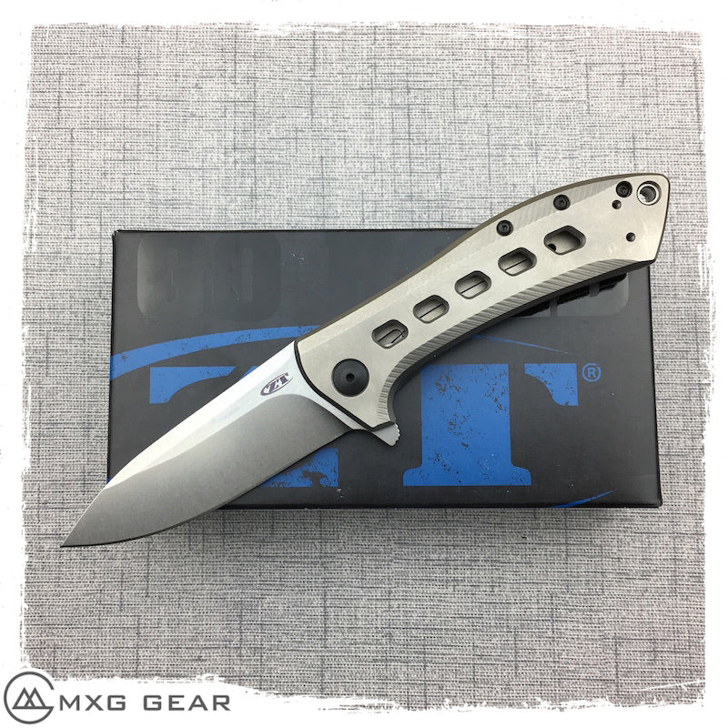New  Zero Tolerance Rexford 0801TI Flipper Knife Titanium
