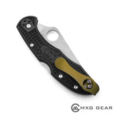 Custom Made Titanium Deep Carry Pocket Clip For Spyderco Delica 4