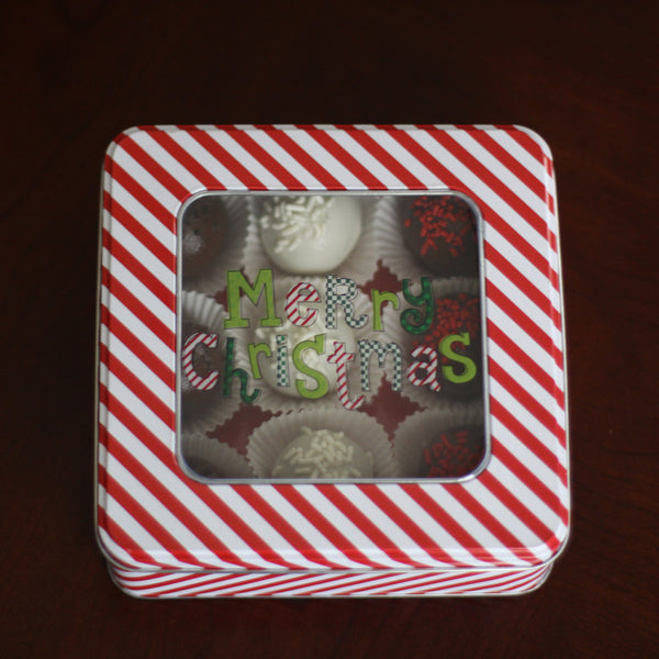 Cake Ball Christmas Tin