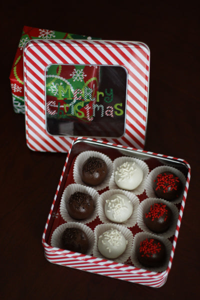 Holiday CakeBall GiftTin 9pc