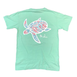Reef Green Crabby Print Short Sleeve