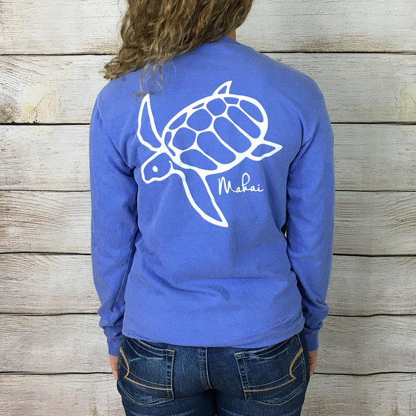 Flo Blue Honu Print Back