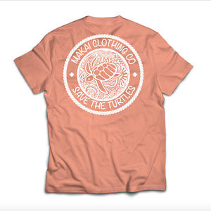 Terracotta Pocketed Paisley Rope Tee