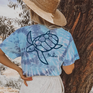 Blue Coral Tie Dye Short Sleeve (One For One)