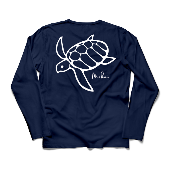 True Navy Honu Print