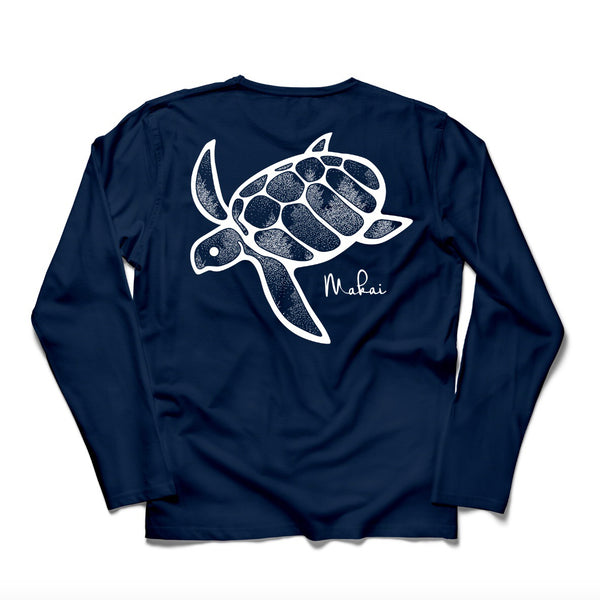 True Navy Frosted Honu Print