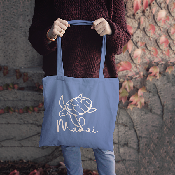 Makai Blue Ocean Recycled Tote Bag (1 FREE with any order on 12/6!)