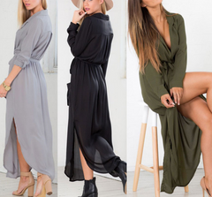CUTE SEXY LOOSE LONG-SLEEVED DRESS HIGH QUALITY