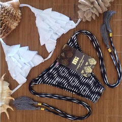 WHITE BLACK TWO PIECE BIKINI