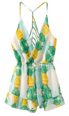 HOT GREEN YELLOW ROMPER HOLLOW OUT CUTE DESIGN