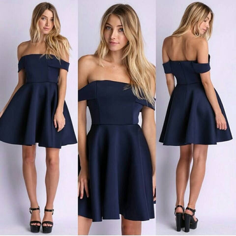 CUTE ONE WORD DRESS DEEP BLUE
