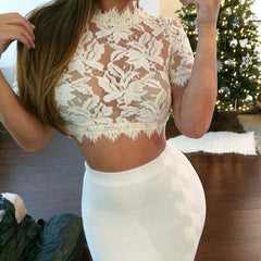 HOT LACE CUTE TOP HIGH QUALITY
