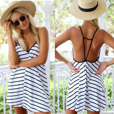 ON SALE SEXY STRIPE DRESS