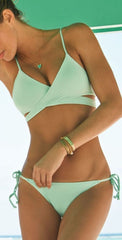 ON SALE CUTE CROSS GREEN BIKINI